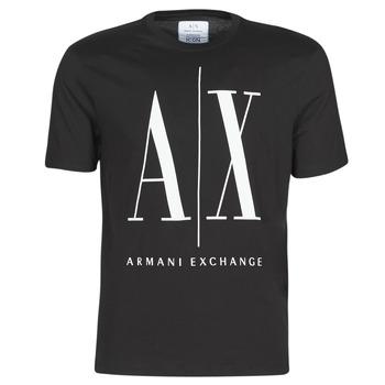 vaatteet Miehet Lyhythihainen t-paita Armani Exchange HULO Black