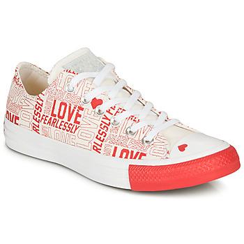 kengät Naiset Matalavartiset tennarit Converse CHUCK TAYLOR ALL STAR - OX Valkoinen  / Punainen