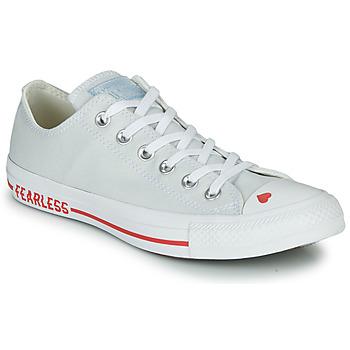 kengät Naiset Matalavartiset tennarit Converse CHUCK TAYLOR ALL STAR LOVE CANVAS - OX Valkoinen  / Red