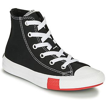 kengät Pojat Korkeavartiset tennarit Converse CHUCK TAYLOR ALL STAR - HI Musta / Keltainen / Valkoinen