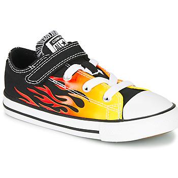 kengät Tytöt Matalavartiset tennarit Converse CHUCK TAYLOR ALL STAR 1V - OX Musta / Keltainen
