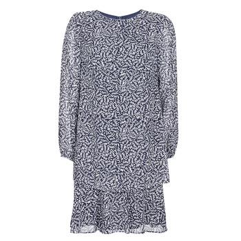 vaatteet Naiset Lyhyt mekko Lauren Ralph Lauren Alois Laivastonsininen / White