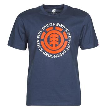 vaatteet Miehet Lyhythihainen t-paita Element SEAL Laivastonsininen
