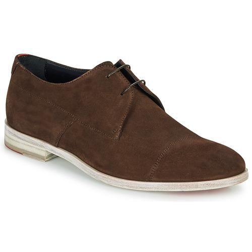 kengät Miehet Derby-kengät HUGO MIDTOWN DERB SD Brown