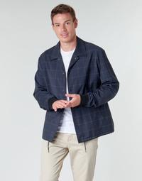 vaatteet Miehet Pusakka HUGO UROQ2022 Laivastonsininen