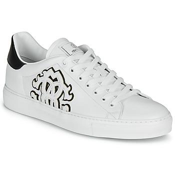 kengät Miehet Matalavartiset tennarit Roberto Cavalli 1005 White / Black