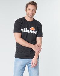 vaatteet Miehet Lyhythihainen t-paita Ellesse SL  PRADO Musta