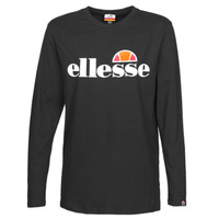 vaatteet Naiset T-paidat pitkillä hihoilla Ellesse GRAZIE Black