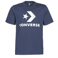 vaatteet Miehet Lyhythihainen t-paita Converse STAR CHEVRON TEE Blue