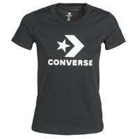 vaatteet Naiset Lyhythihainen t-paita Converse STAR CHEVRON TEE Musta