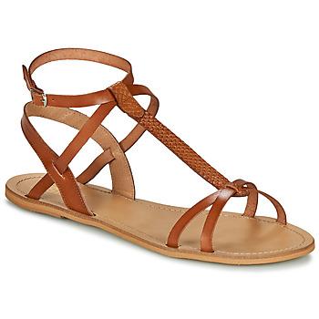 kengät Naiset Sandaalit ja avokkaat So Size BEALO Camel