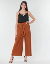 vaatteet Naiset Väljät housut / Haaremihousut Moony Mood 93114-ROUILLE Brown