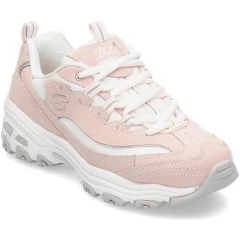 kengät Tytöt Matalavartiset tennarit Skechers Dlites Biggest Fan Vaaleanpunaiset