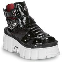 kengät Naiset Sandaalit ja avokkaat New Rock LIYA Musta / Valkoinen
