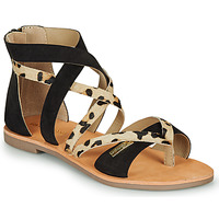 kengät Naiset Sandaalit ja avokkaat Les Tropéziennes par M Belarbi POPS Musta / Leopardi