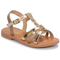 kengät Tytöt Sandaalit ja avokkaat Les Tropéziennes par M Belarbi BADAMI Beige / Kulta