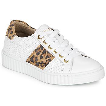 kengät Tytöt Matalavartiset tennarit Bullboxer LORIS White / Leopardi