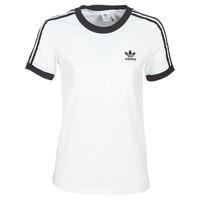 vaatteet Naiset Lyhythihainen t-paita adidas Originals 3 STR TEE White
