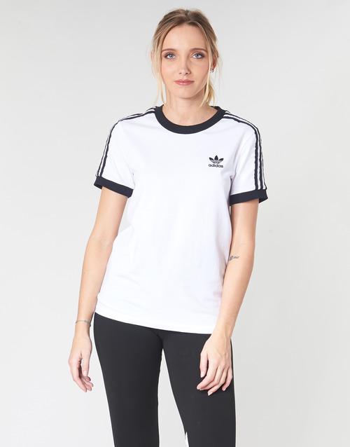Adidas Originals 3 Str Tee White - Ilmainen Toimitus- Vaatteet Lyhythihainen T-paita Naiset 30