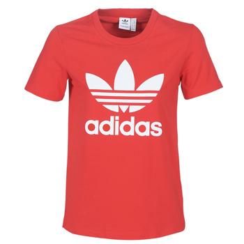 vaatteet Naiset Lyhythihainen t-paita adidas Originals TREFOIL TEE Red / Luxuriant