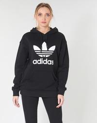 vaatteet Naiset Svetari adidas Originals TRF HOODIE Black