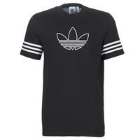 vaatteet Miehet Lyhythihainen t-paita adidas Originals OUTLINE TEE Black