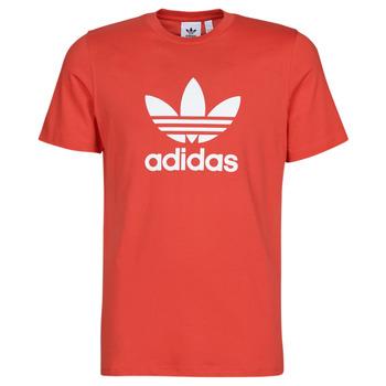 vaatteet Miehet Lyhythihainen t-paita adidas Originals TREFOIL T-SHIRT Red / Luxuriant