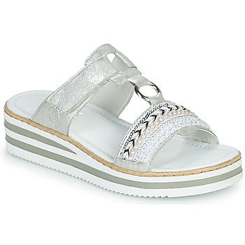 kengät Naiset Sandaalit Rieker CLOZ Hopea / White