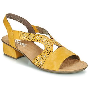 kengät Naiset Sandaalit ja avokkaat Rieker NOUCK Yellow