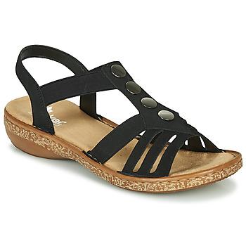 kengät Naiset Sandaalit ja avokkaat Rieker NEX Black