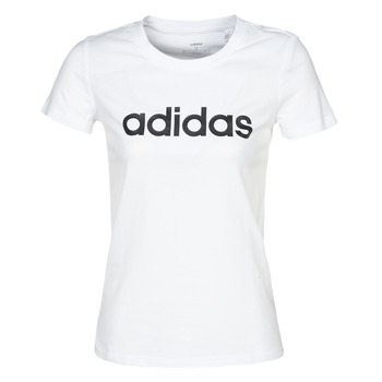 vaatteet Naiset Lyhythihainen t-paita adidas Performance E LIN SLIM T White