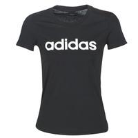 vaatteet Naiset Lyhythihainen t-paita adidas Performance E LIN SLIM T Black
