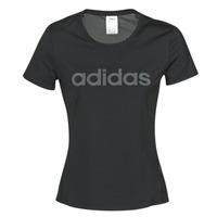 vaatteet Naiset Lyhythihainen t-paita adidas Performance D2M LO TEE Black