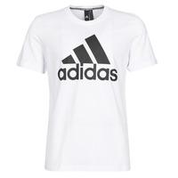 vaatteet Miehet Lyhythihainen t-paita adidas Performance MH BOS Tee White