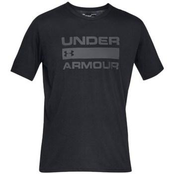 vaatteet Miehet Lyhythihainen t-paita Under Armour Team Issue Wordmark Mustat