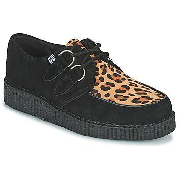kengät Derby-kengät TUK LOW FLEX ROUND TOE CREEPER Musta / Leopardi