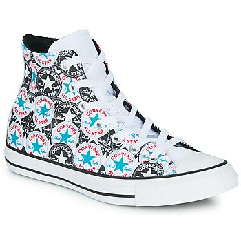 kengät Naiset Korkeavartiset tennarit Converse Chuck Taylor All Star Logo Play White / Black / Monivärinen