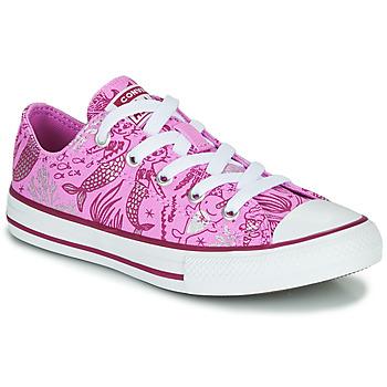 kengät Tytöt Korkeavartiset tennarit Converse CHUCK TAYLOR ALL STAR UNDERWATER PARTY Pink / Monivärinen