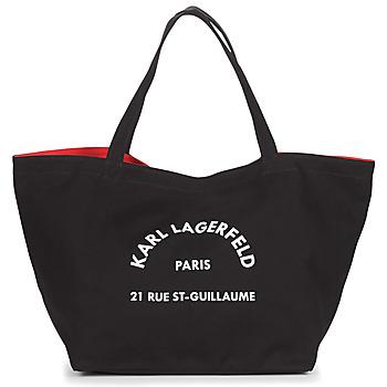 laukut Naiset Ostoslaukut Karl Lagerfeld RUE ST GUILLAUE CANVAS TOTE Musta