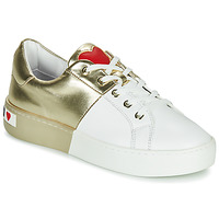 kengät Naiset Matalavartiset tennarit Love Moschino BI-COLOR SHOES White / Kulta