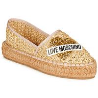 kengät Naiset Espadrillot Love Moschino  Beige