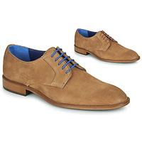 kengät Miehet Derby-kengät Azzaro ZENOU Cognac