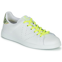 kengät Naiset Matalavartiset tennarit Victoria TENIS PIEL FLUO White / Yellow