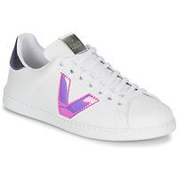 kengät Naiset Matalavartiset tennarit Victoria TENIS VINILO White / Blue