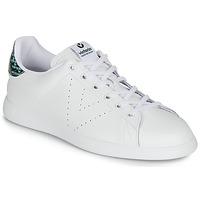 kengät Naiset Matalavartiset tennarit Victoria TENIS PIEL SERPIENTE White / Blue