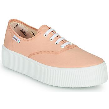 kengät Naiset Matalavartiset tennarit Victoria DOBLE LONA Corail