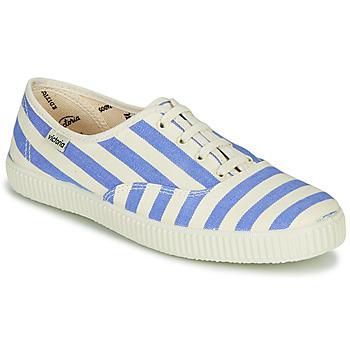 kengät Naiset Matalavartiset tennarit Victoria NUEVO RAYAS White / Blue