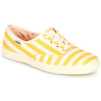 kengät Naiset Matalavartiset tennarit Victoria NUEVO RAYAS Yellow / White