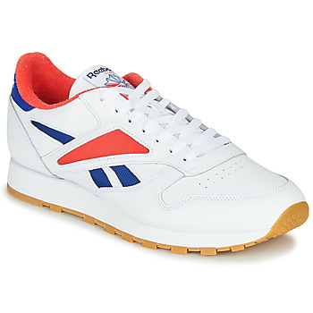 kengät Miehet Matalavartiset tennarit Reebok Classic CL LEATHER MARK Grey / White / Red