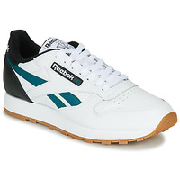 kengät Miehet Matalavartiset tennarit Reebok Classic CL LEATHER MU White / Black